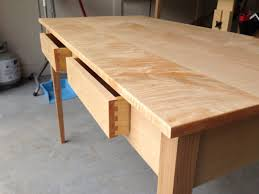 curly maple desk  finewoodworking