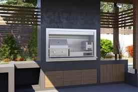 Braai Place Design Signi Fires Combination Braai 1800mm Stainless Steel
