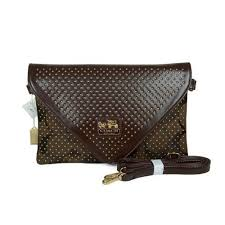 Want To Get The Coach Stud Logo Signature Small Coffee Crossbody Bags EAR   Will You