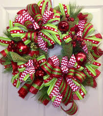 Christmas Mesh Wreath on Etsy, $89.00
