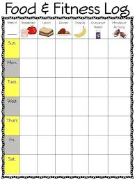 Food And Exercise Diary Food Exercise Journal Template Diabetic Log Format Weekly