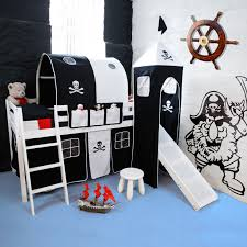 Pirate Accessories For Bedroom Pirate Theme Midsleeper Bed With Slide Bedroom Furniture Direct