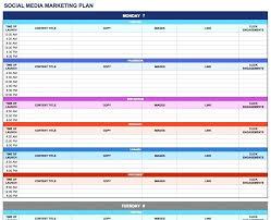 Marketing Budget Plan Marketing Plan Spreadsheet Template Social Top Sales And