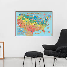 united state map wall decor colorful america map wall sticker school room background study decoration home decoration personalized wall stickers polka dot