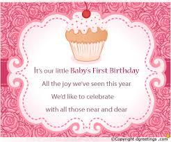 First Birthday Invitation Wording 40st Birthday Invitation Message Extraordinary First Birthday Quotes