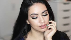 easy holiday glam makeup for olive skin