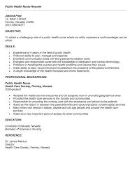 public health resume summary