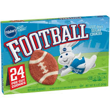pillsbury sugar cookies.  Sugar Pillsbury Ready To Bake Football CutOut Sugar Cookies And B
