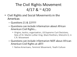 great depression review sheet due now great depression  the civil rights movement 4 17 4 20
