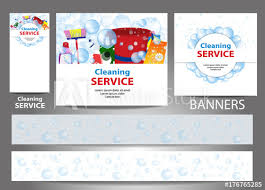 Cleaning Service Templates Set Banners For The Website Cleaning Service Templates Standard