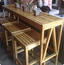 diy outdoor bar console and stools get the free plans to build these outdoor counter
