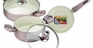 <b>Набор посуды</b> c покрытием <b>Eco</b>-Cera из 5 предметов | VS-2217 ...
