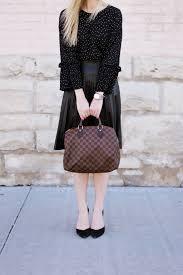 faux leather pleated midi skirt