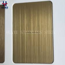 colored sheet metal china gold hairline stainless steel colored sheet metal plate for