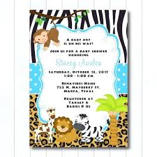 Free Printable Safari Birthday Invitations Printable Safari Invitations Great Baby Shower Safari Invitations In