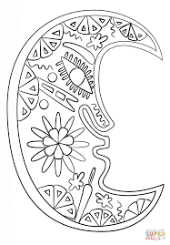 Small Picture Huichol Art Moon coloring page Free Printable Coloring Pages