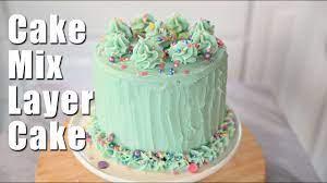box cake mix layer cake