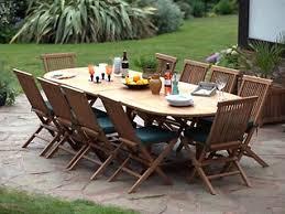 cheshire teak double extending oval garden set