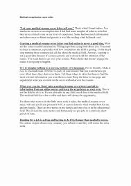 Sample Medical Resume Cover Letter Administration Cover Letter Examples Or Entry Level Healthcare With