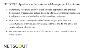 Application Performance Management Netscout Application Performance Management Azure