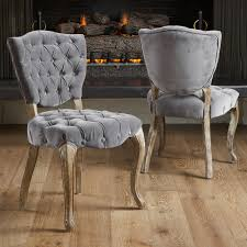 middleton tufted grey fabric dining chairs 2 pack walmart within grey fabric dining room chairs
