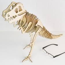 personalised wooden dinosaur skeleton kit model