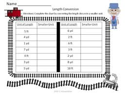 Length Conversion Train Domino Game Assessment Ccss 4 Md A 2