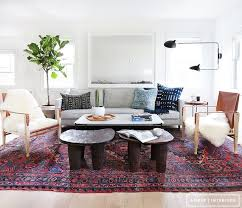 A bright, bohemian and modern living room in California / designed ...