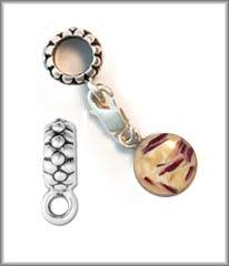 pandora style charm made with funeral flowers memorial flower preservation funeral flower jewelry