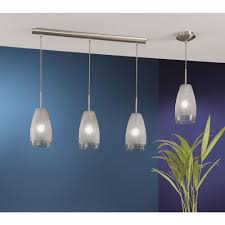 Eglo Crash 3 Light Matte Nickel Hanging Island Light Eglo Crash 3 Light Matte Nickel Hanging Island Light 20598a