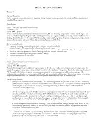 Job Objective For Resume Best 5110 Resume Examples For Objective Objective In Resume For It Objective