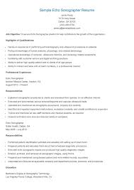 Ultrasound Resume Sample Sample Echo Sonographer ResumeResume Samples Resame Pinterest 5