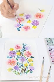 30 minute beautiful watercolor flower