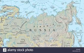 map of siberia stock photo royalty free image   alamy