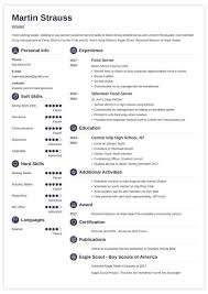 Resume Templates Free Download Resume Examples For Teens Templates