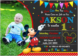 Make Your Own Mickey Mouse Invitations Happy Birthday Mickey Mouse Invitation Czeckitout