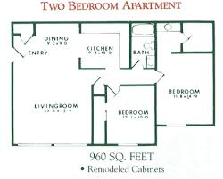 2 Bedroom Apartment Floor Plan For Rent At Willow Pond Apartments In  Penfield, NY