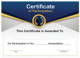 Free Printable Certificate Of Participation Templates Cop