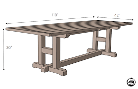 plans to build an outdoor dining table. diy-h-leg-dining-table-plans-dimensions plans to build an outdoor dining table d
