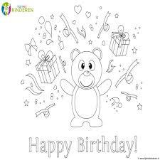Kleurplaten Happy Birthday Kleurplaat Vor Kinderen With Regard To