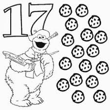 Small Picture Number 9 and Telly with nine stars coloring page For Preschool