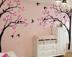 white tree wall decal stickers corner