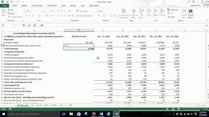 Pro Forma Income Statement Percent Of Sales Excel 2013