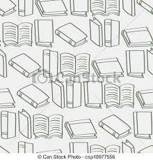seamless cartoon book outline backg csp18977556