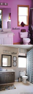 bathroom remodel pictures before and after. Exellent After From Horrid Purple To Heavenly Gray And Beige Master Bathroom Makeover Inside Remodel Pictures Before And After O