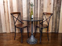 awesome bistro table set for dining room and patio furniture decorating ideas wooden bistro table