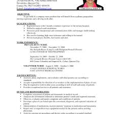 Job Description For Nurses Resume Rn Resume Template Examples Nurse Lpn At Nursing All Resume Simple 97