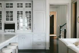light gray seeded glass china cabinets
