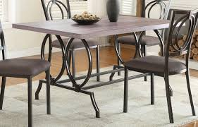 Metal And Wood Kitchen Table Homelegance Chama Dining Table Metal Wood 5469 60