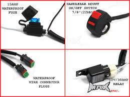 motorcycle universal w cree led spot driving lights complete see 10 more pictures